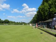 Playing lawn bowls at the Hyde Park Tennis and Sports Centre