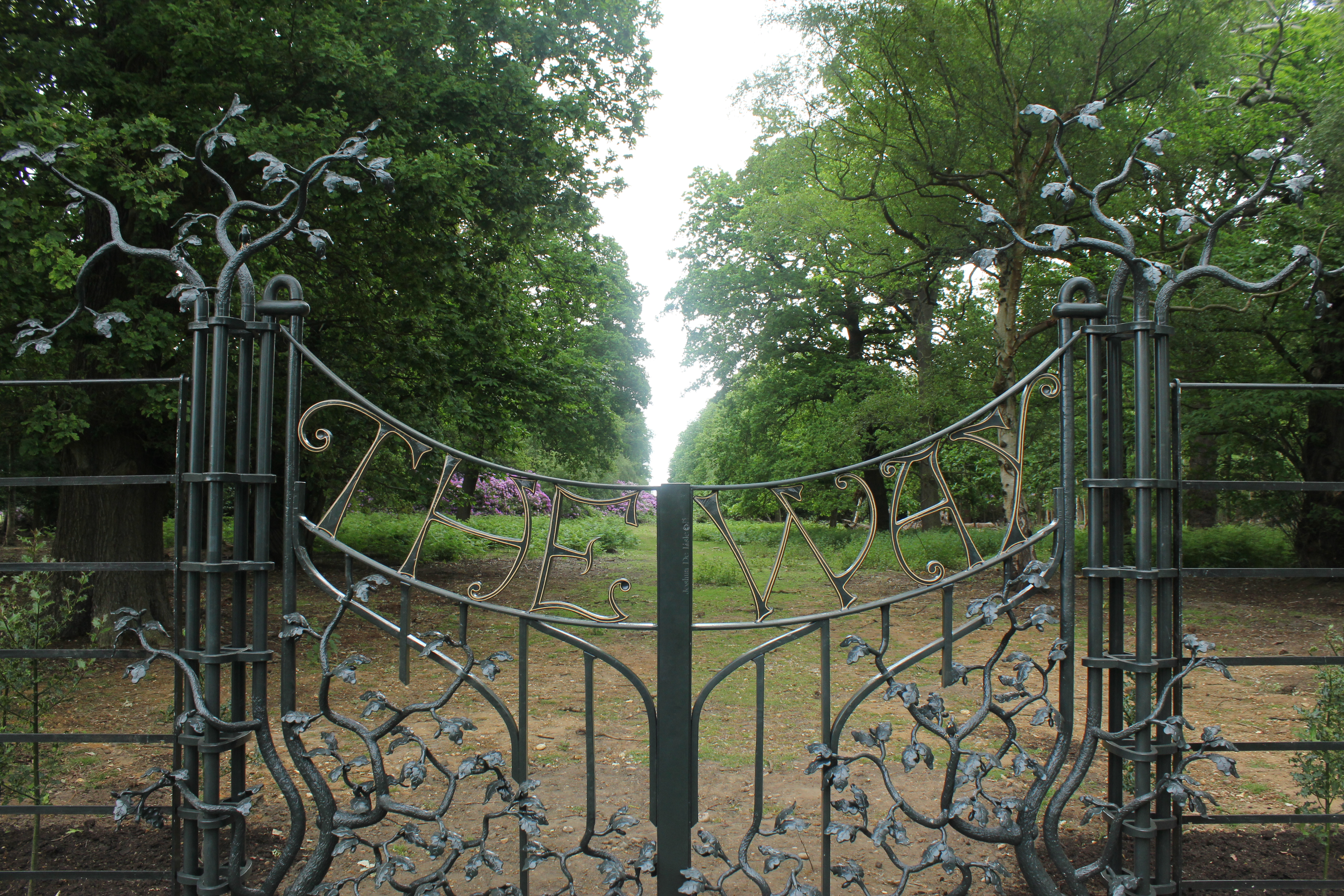 Richmond Park gates 'The Way' added to the historic vista 10-mile vista from the park to St Paul's Cathedral to mark the cathedral's tercentenary