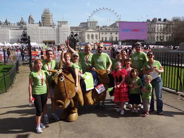 The Royal Parks team at the Sport Relief Mile