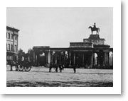 Hyde Park - Decimus Burton's Triumphal Screen and The Wellington Arch at Hyde Park Corner 1857
