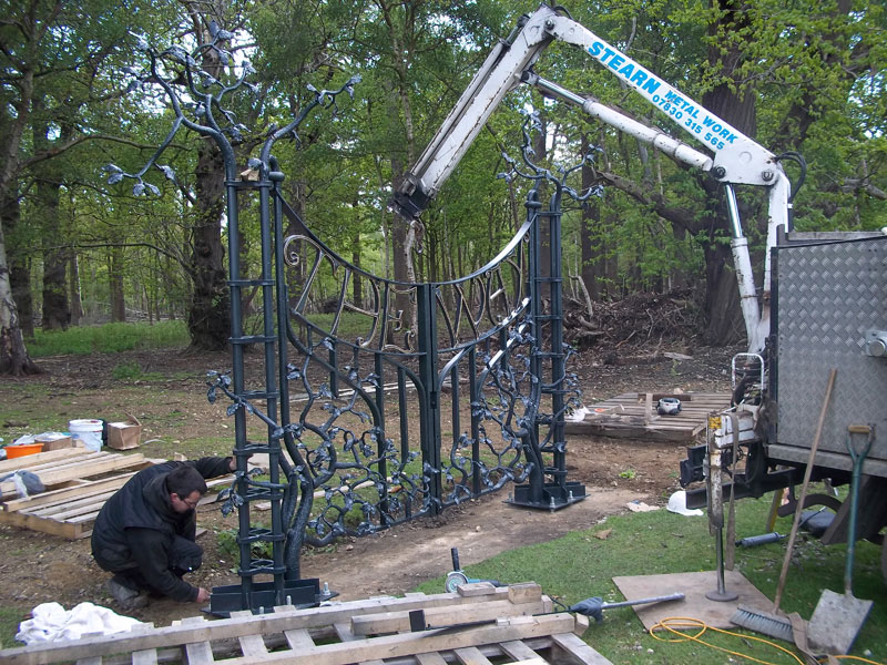 Installation of The Way gates