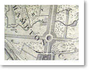 Bushy Park in 1746 - The formal avenues and the Longford River can be clearly seen.