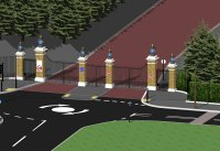 Blackheath Gate - Computer generated images of how the finished gates