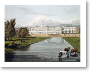 St James's Park - A view of the canal in St. James's Park from 1794 showing the canal and the horse guards. Courtesy of Westminster City Archives.