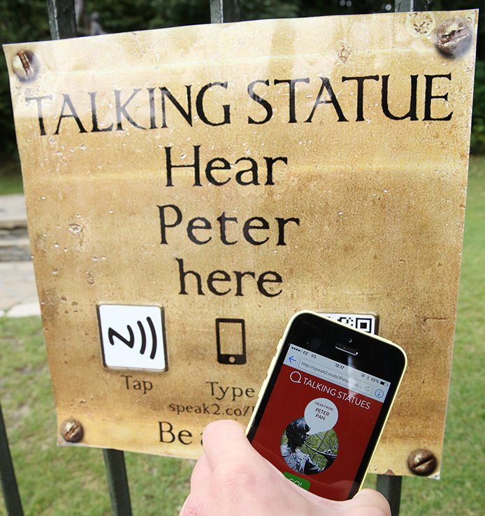 Scan or tap this sign to listen to Peter Pan