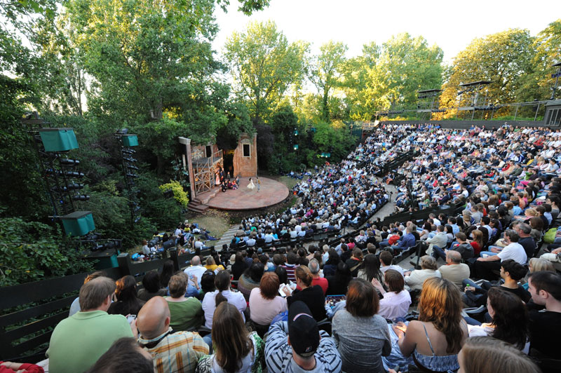 Open Air Theatre during the day