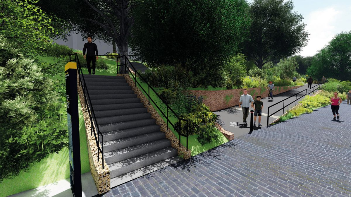 Proposed avenue road access steps and ramp