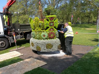 The floral crown for the Diamond Jubilee, St James's Park