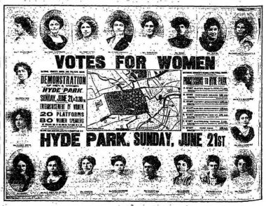 Votes for Women flyer © Imperial War Museum