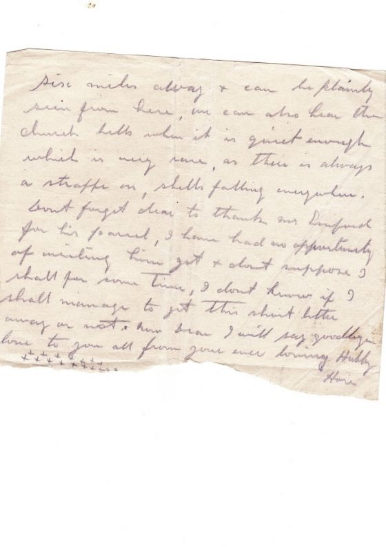 Second part of a letter from Hori Tribe to his wife Bessie in WWI