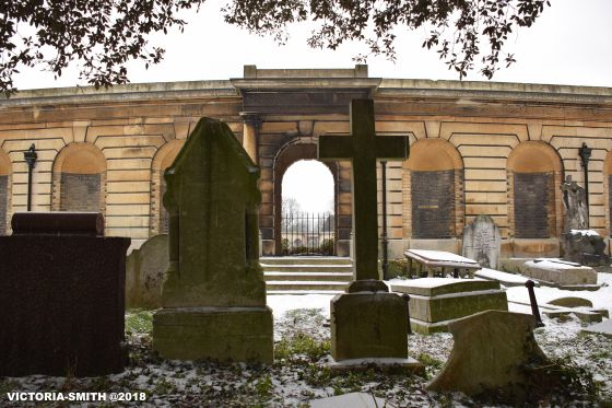Brompton Cemetery in Winter