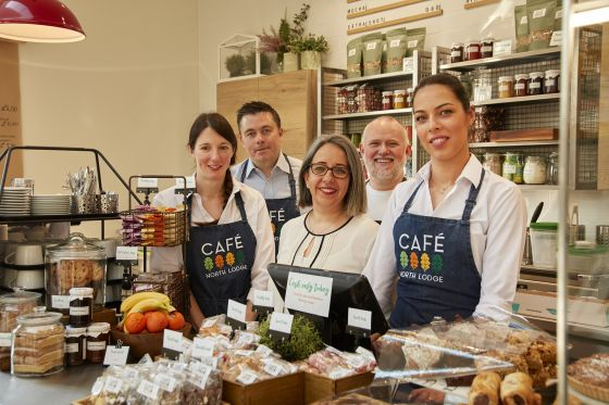 Staff at the North Lodge Cafe