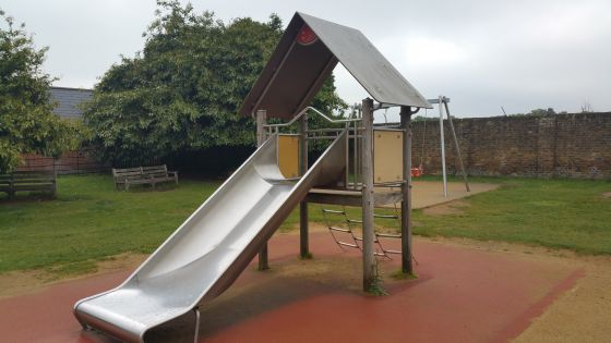 Small covered slide