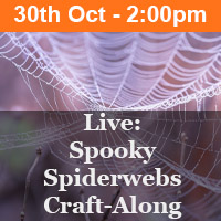 Live: Spooky Spiderwebs Craft-Along