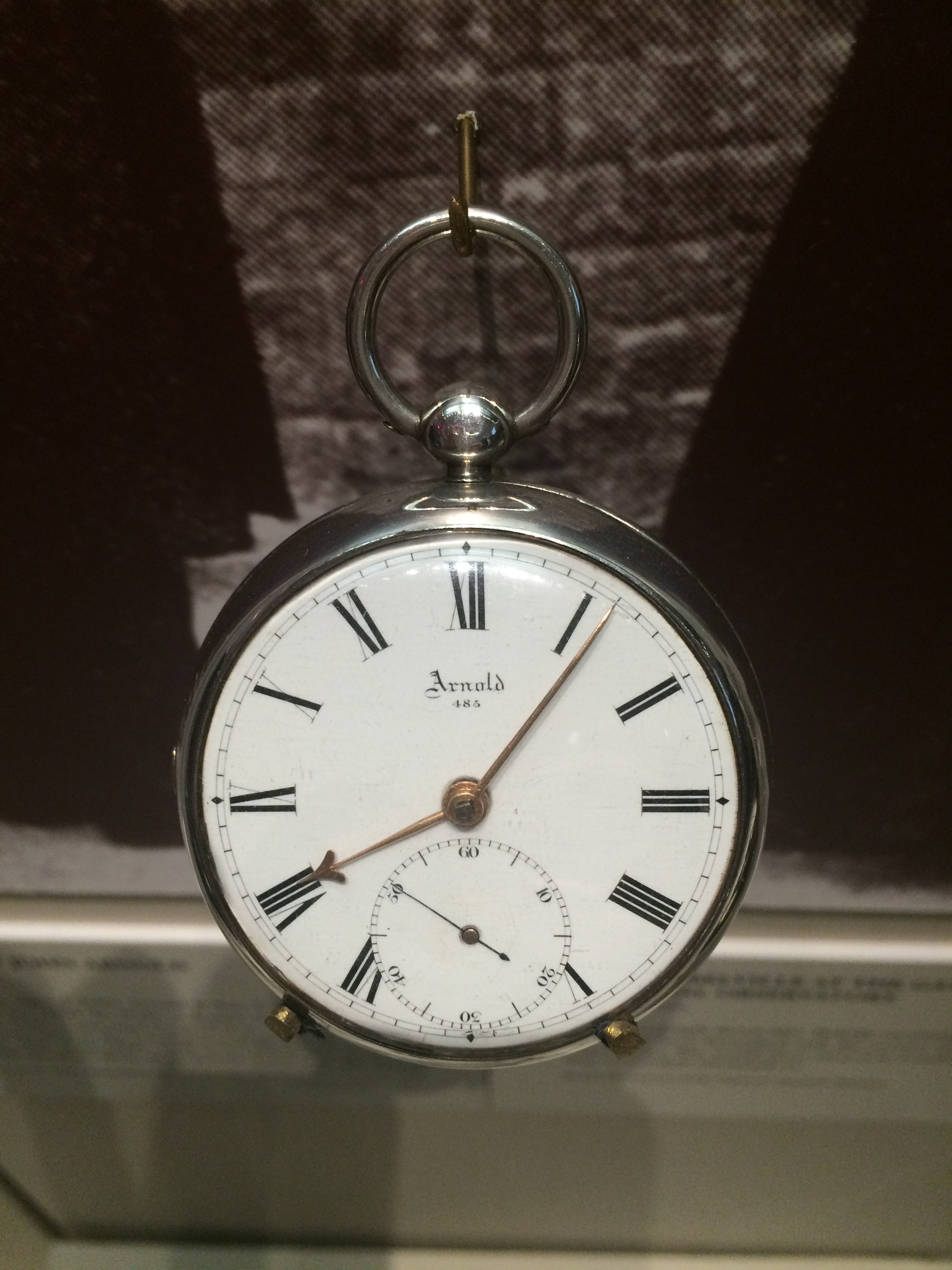 The Belville family's pocket watch, 'Arnold' (on show in the Clockmakers' Museum)