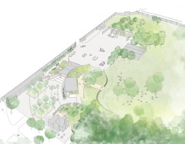 Greenwich Park learning centre concept art