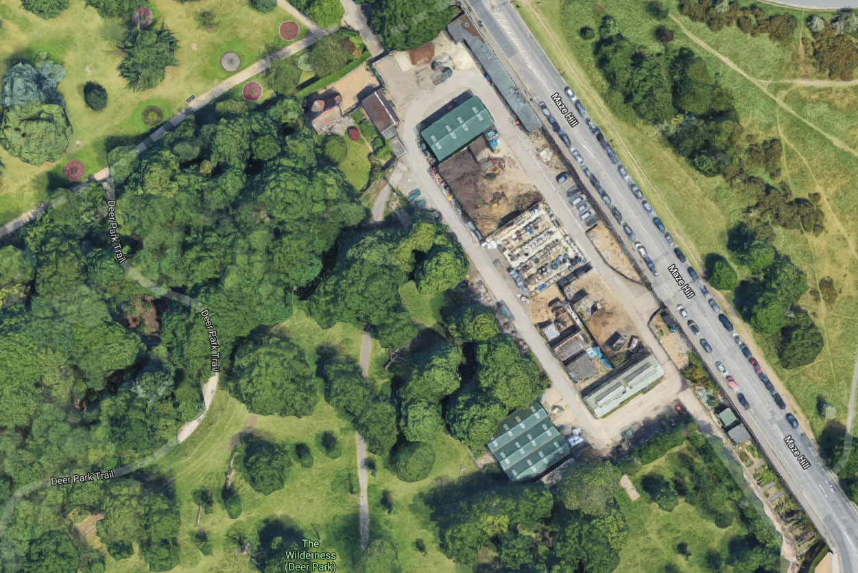 Satellite view of the proposed location for the Learning Centre