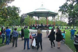 Lewisham Concert Band performing on the Greenwich Park Bandstand