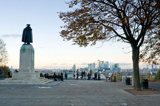 General Wolfe statue in Greenwich Park