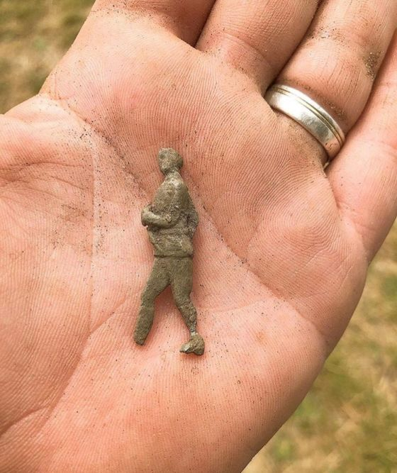 This lead soldier was found during the dig