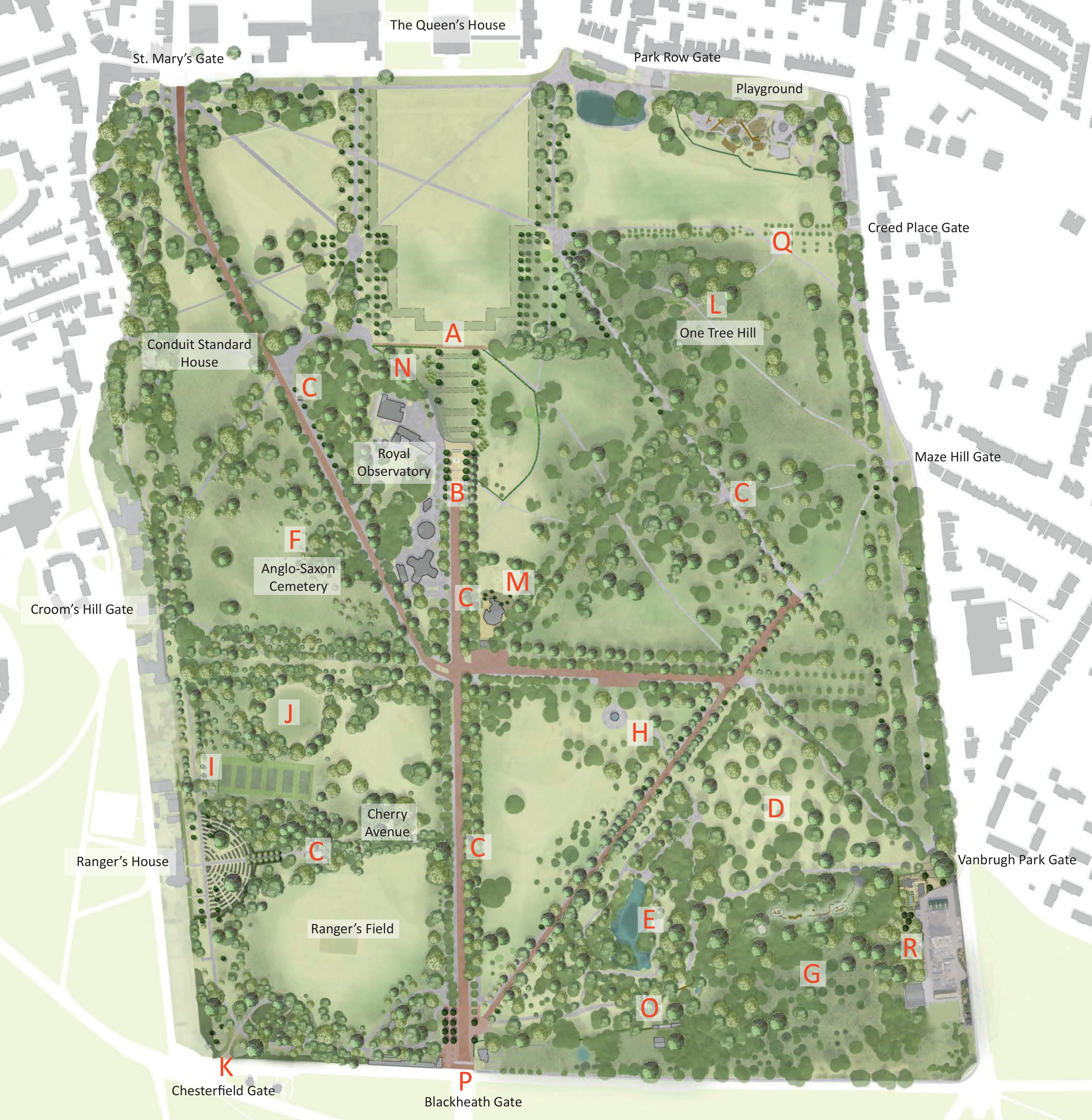 The Greenwich Park Revealed Masterplan