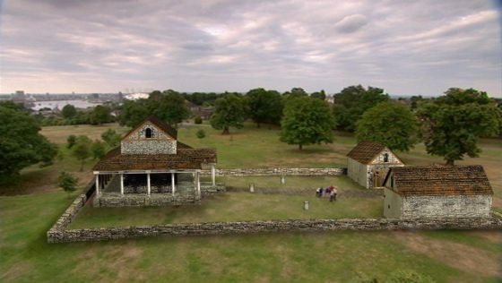 This digital reconstruction of how the Roman temple in Greenwich Park might have looked was created by Channel 4's Time Team.