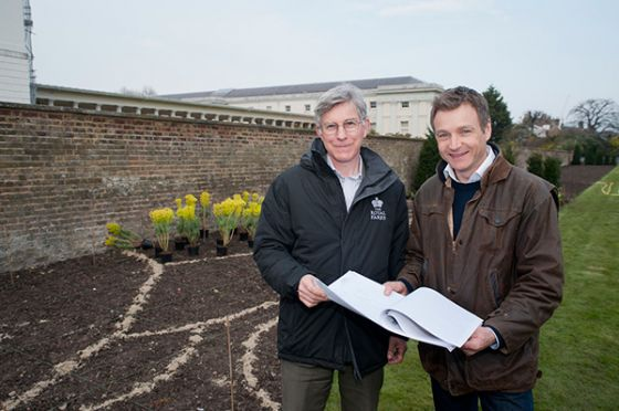 Graham Dear, Park Manager for Greenwich Park with award winning Chelsea Flower Show designer Chris Beardshaw