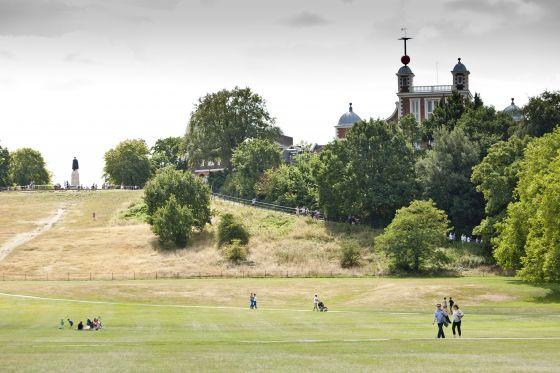 The Royal Observatory overlooking Greenwich Park