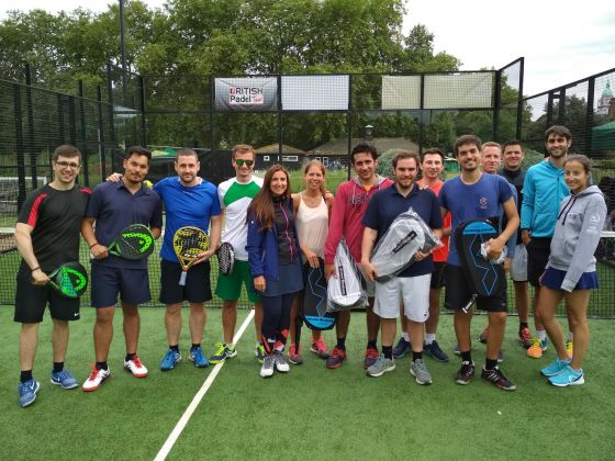 The padel tennis team after the tournament