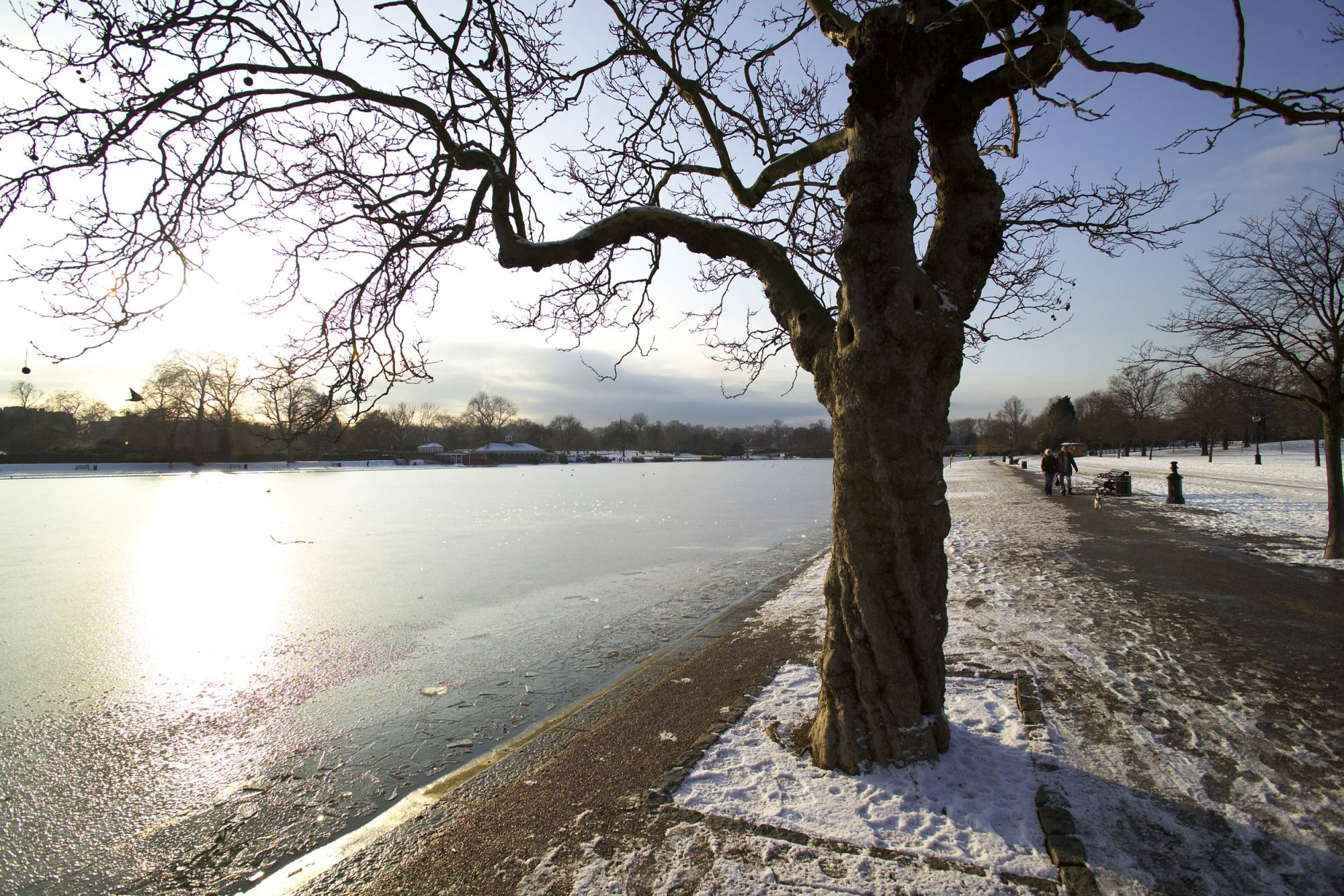 The Serpentine in winter