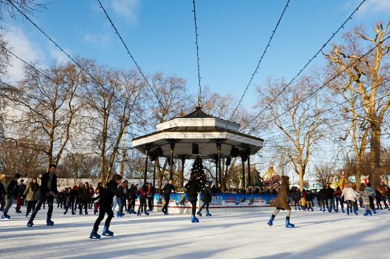 Ice rink at the Hyde Park Winter Wonderland