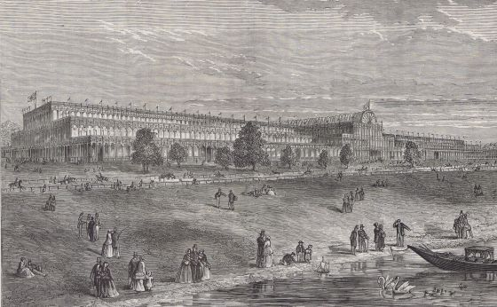 The Great Exhibition viewed from The Serpentine lake, 1851 © The Hearsum Collection