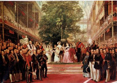 Queen Victoria and Prince Albert at the Great Exhibition opening ceremony © The Hearsum Collection