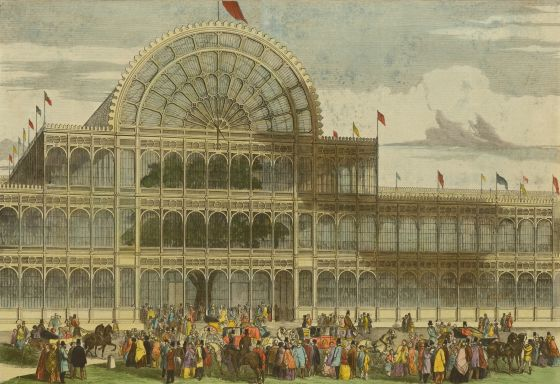 The front of the Crystal Palace Great Exhibition building © The Hearsum Collection