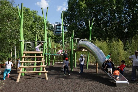 Children enjoying the Hyde Park Playground