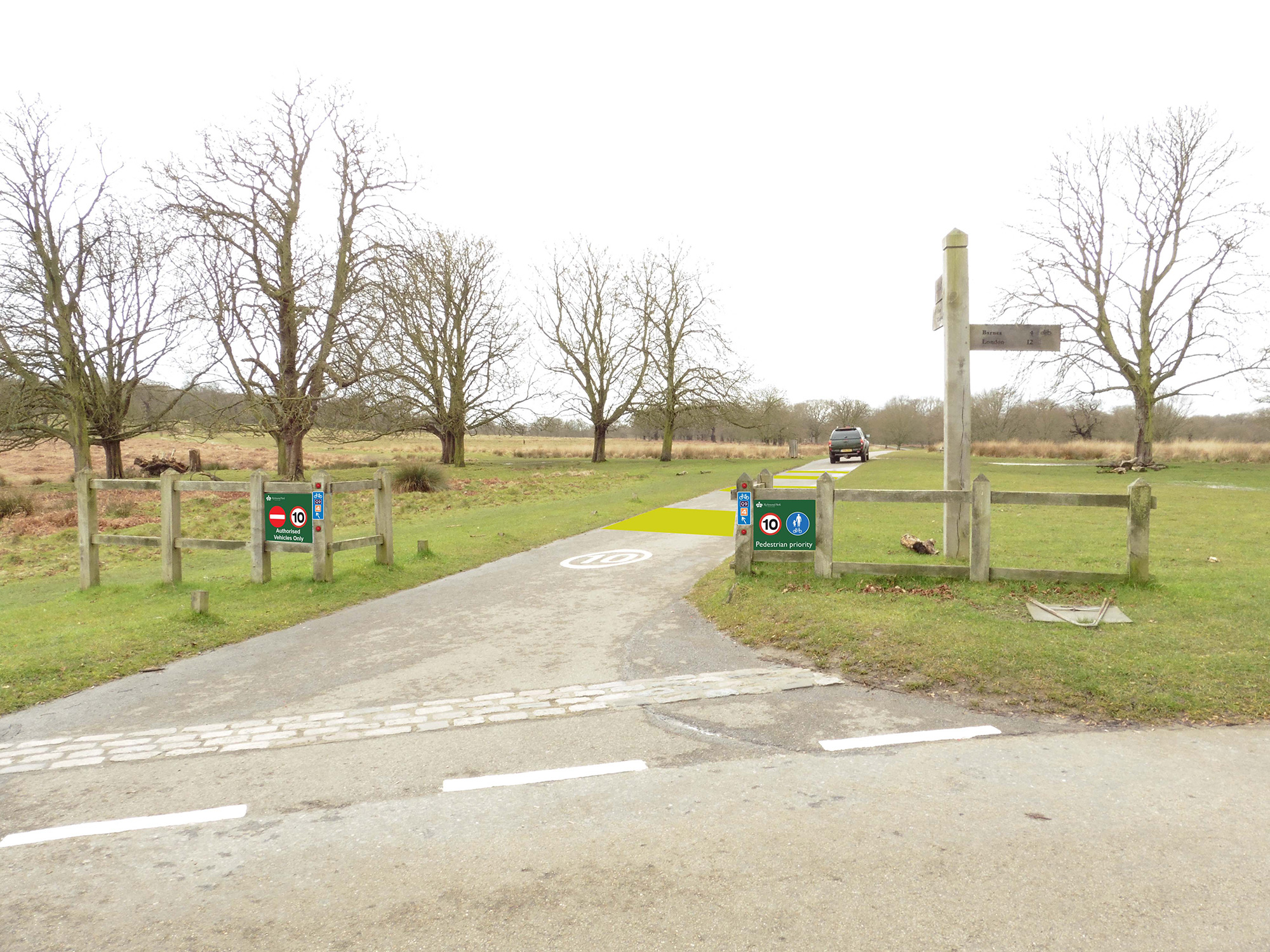 Proposed signage at Pen Ponds Entrance