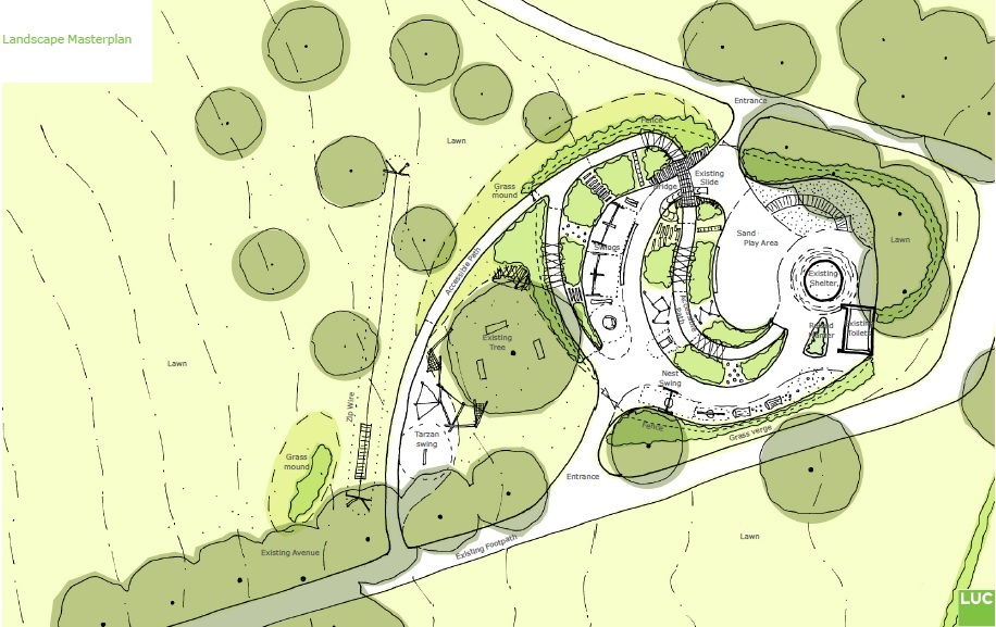 Gloucester Gate playground masterplan