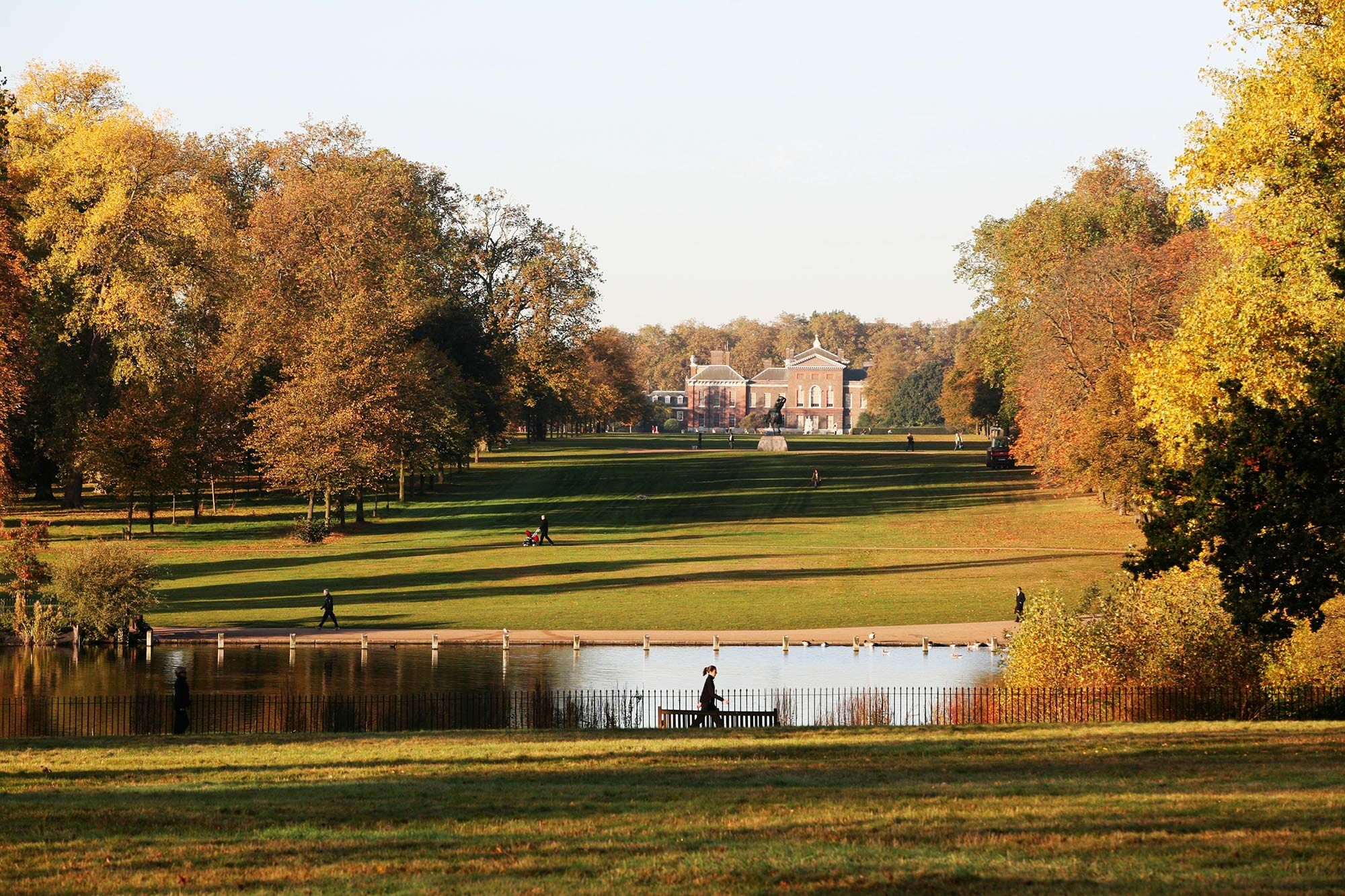 View from Buck Hill to Kensington Palace in Autumn