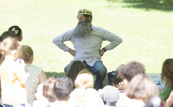 George storytelling at Green Park 2019