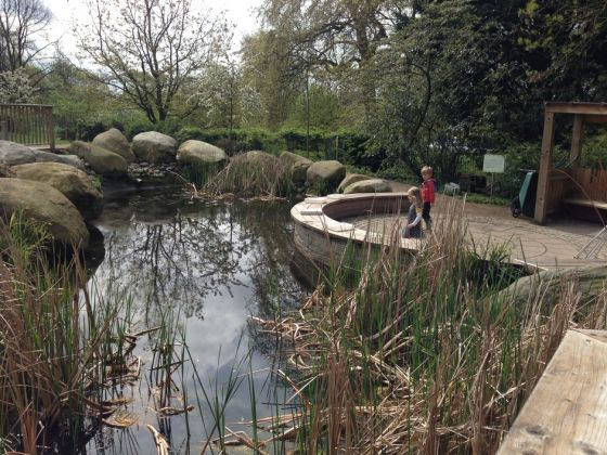 Pond in the LookOut gardens