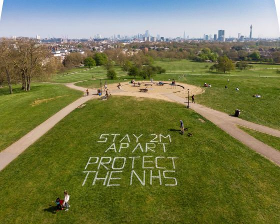 Safety markings on Primrose Hill