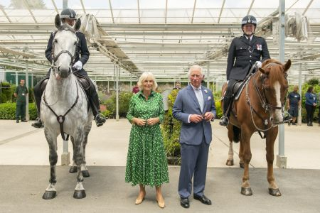 The Prince of Wales and The Duchess of Cornwall thank Royal Parks' staff who care for London's green spaces