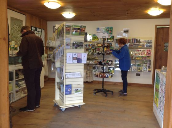 Inside the Richmond Park Visitor Information Centre
