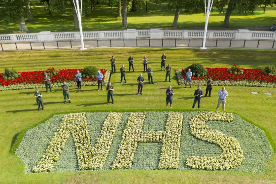 The Royal Parks team behind the NHS flowerbeds