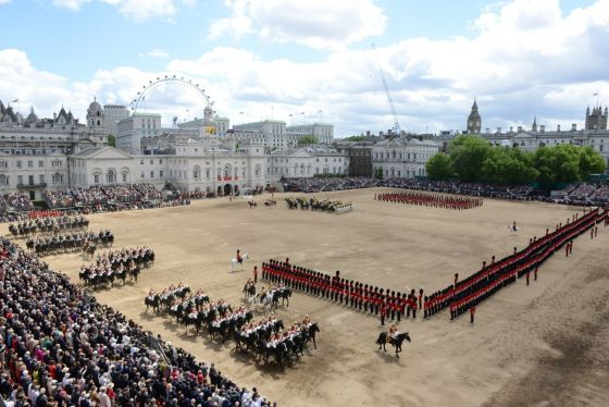 Trooping the Colour parade on Horse Guards Parade