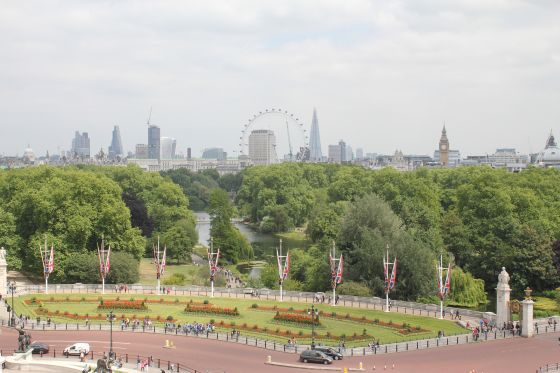 View of St James's Park from Buckingham Palace