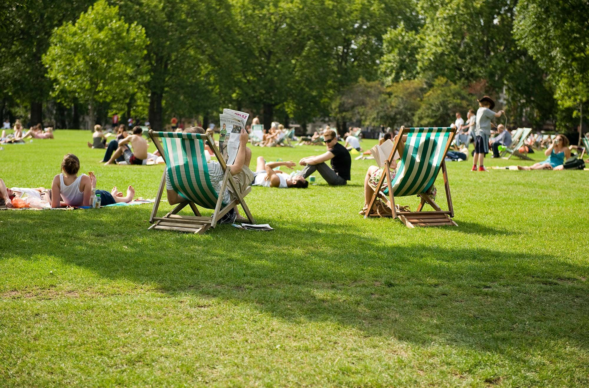 Deckchairs in Green Park