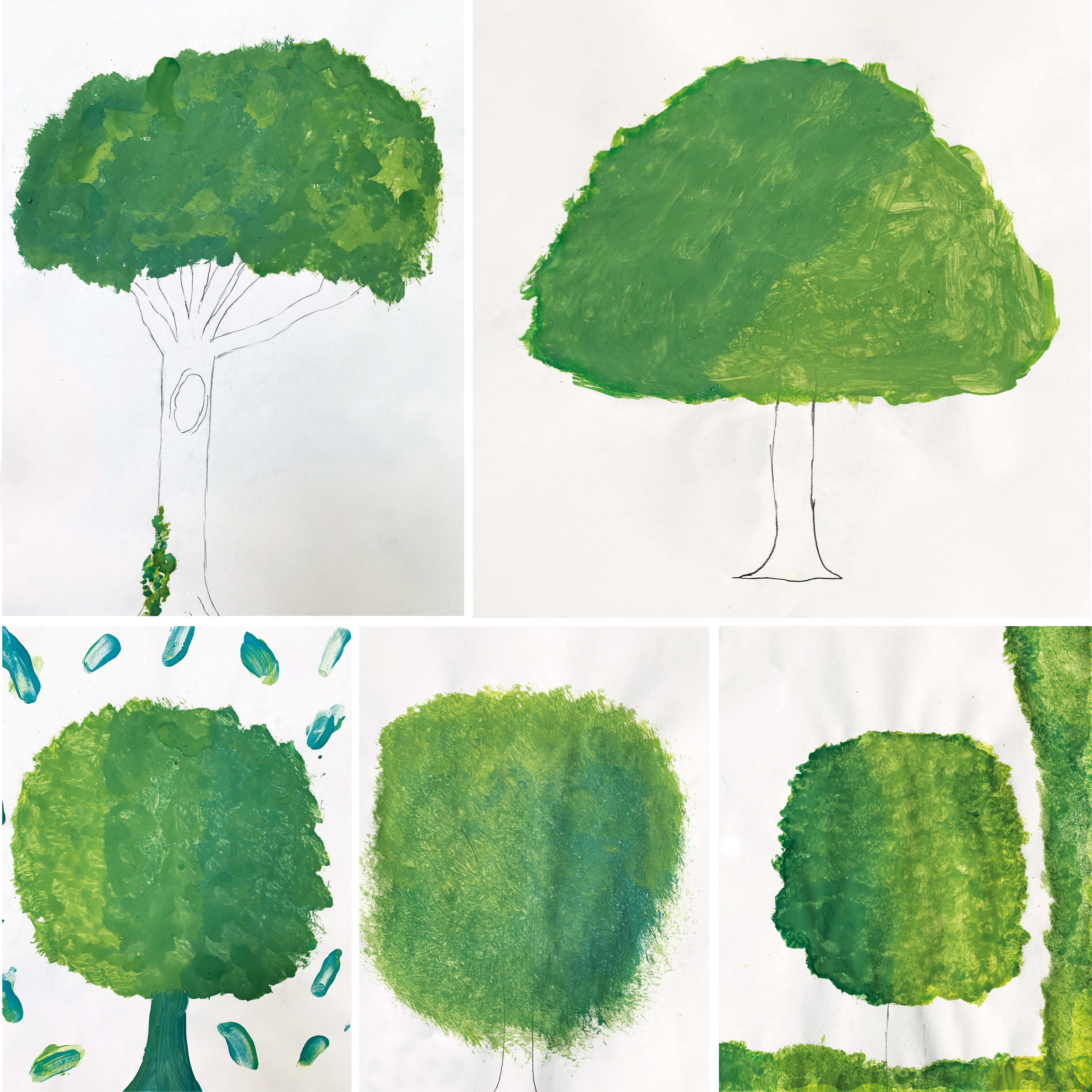Tree art collage (Our Lady Immaculate Catholic Primary School)