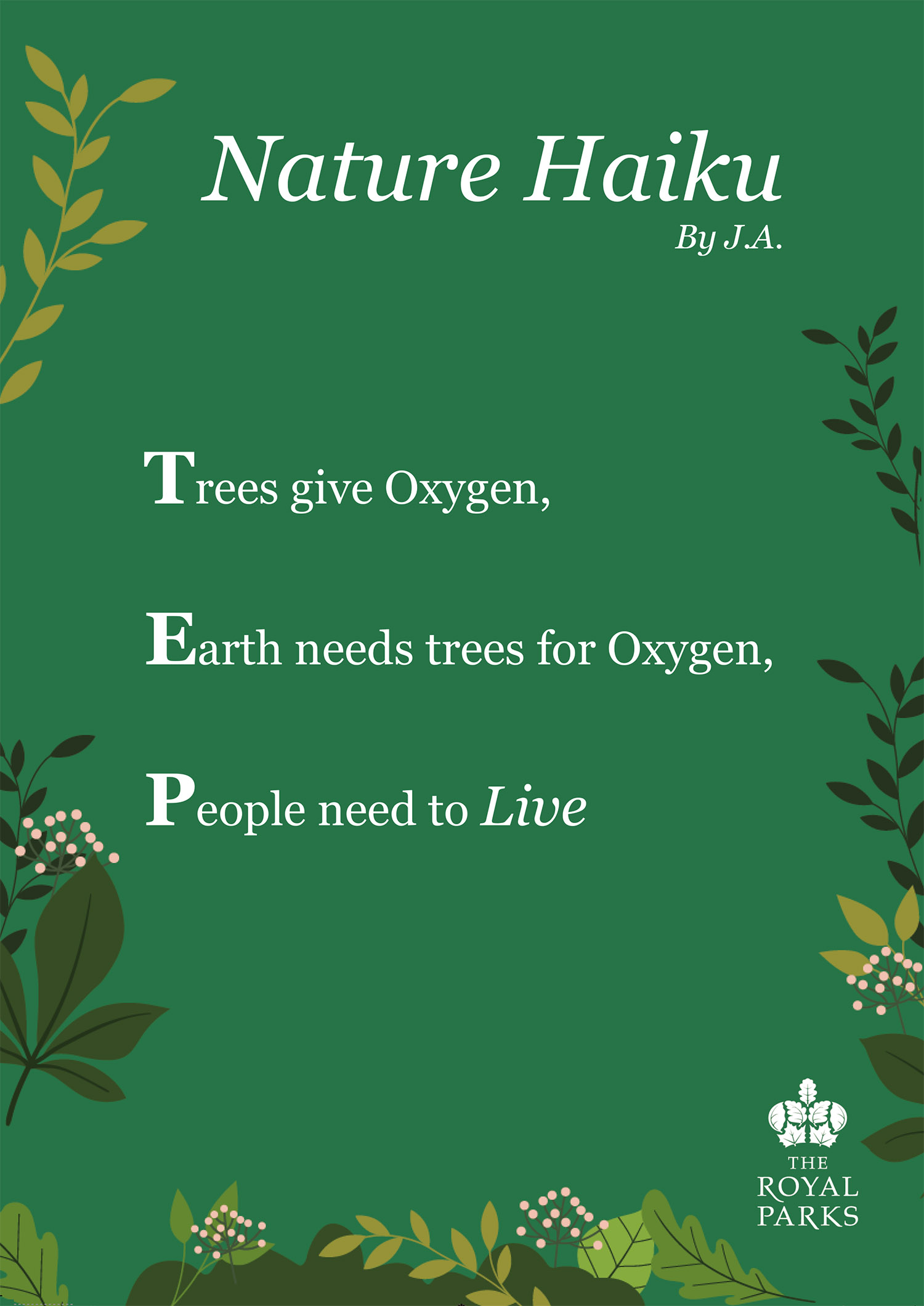 Nature Haiku by J.A. (Our Lady Immaculate Catholic Primary School)
