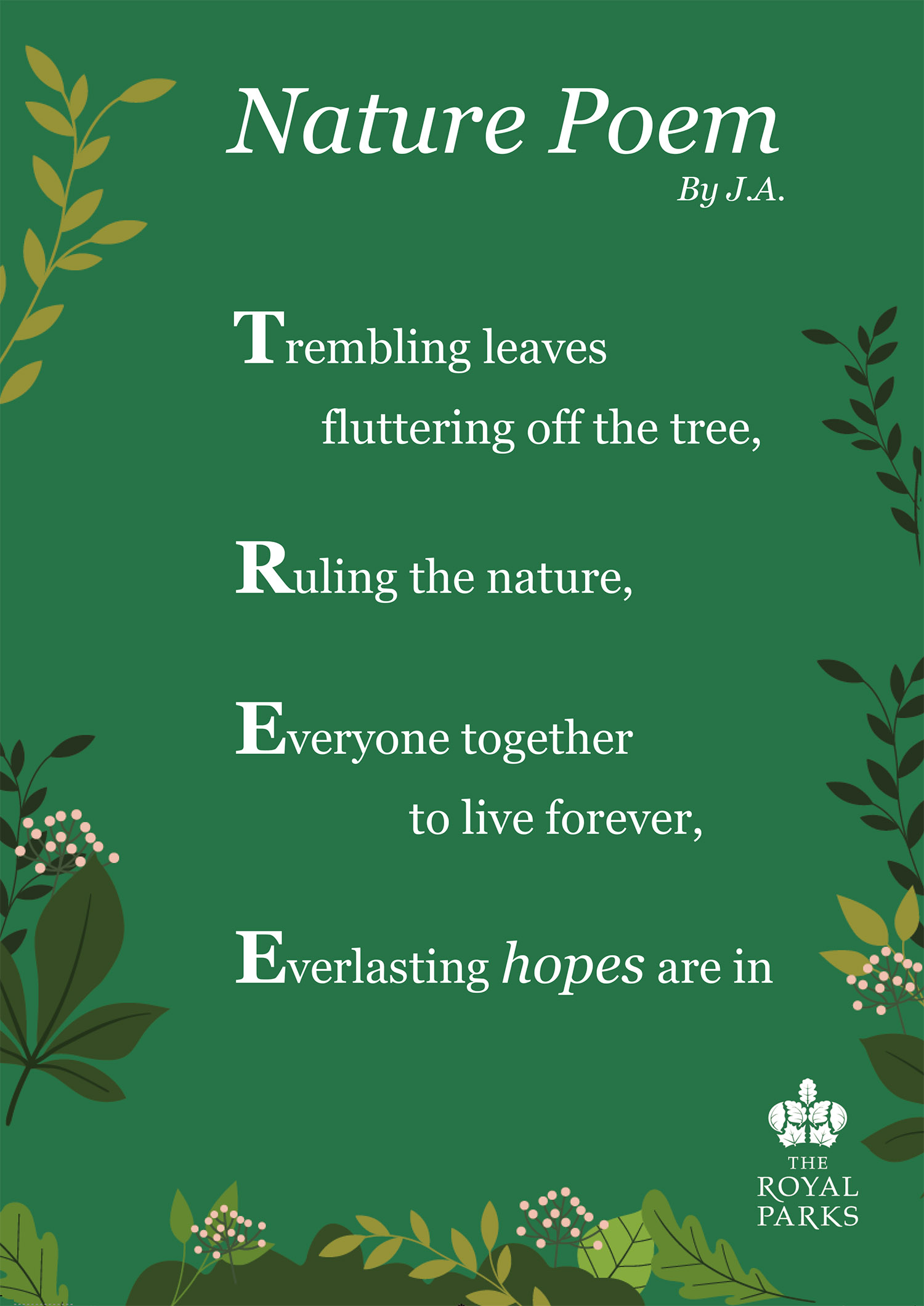 Nature Poem by J.A. (Our Lady Immaculate Catholic Primary School)